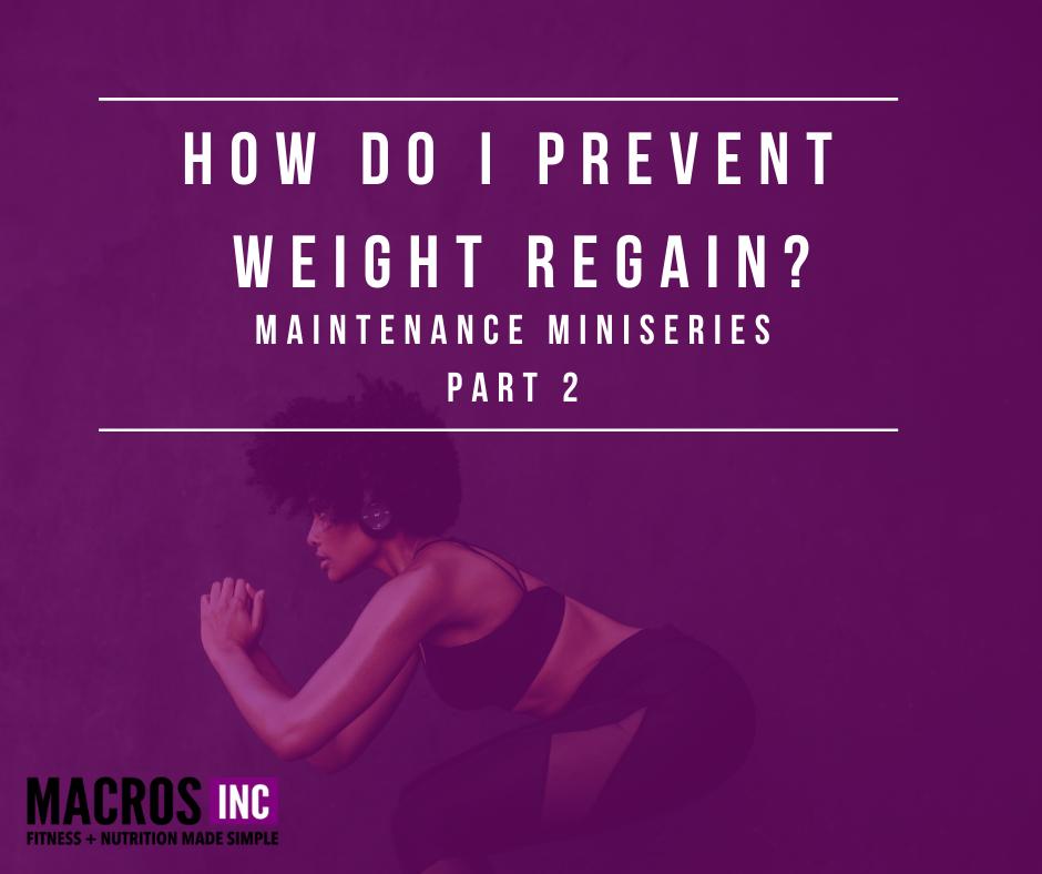 weight regain maintenance